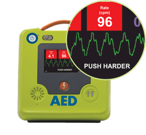 Zoll AED 3 Anzeige