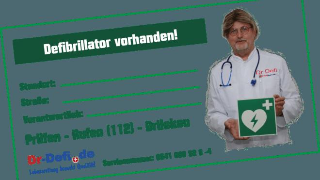Dr. Defi Aufkleber