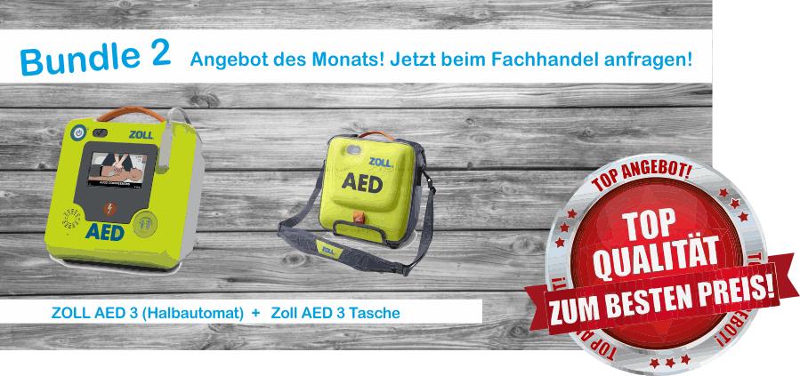 Bundle 2 Zoll AED 3 Halbautomat + Tasche