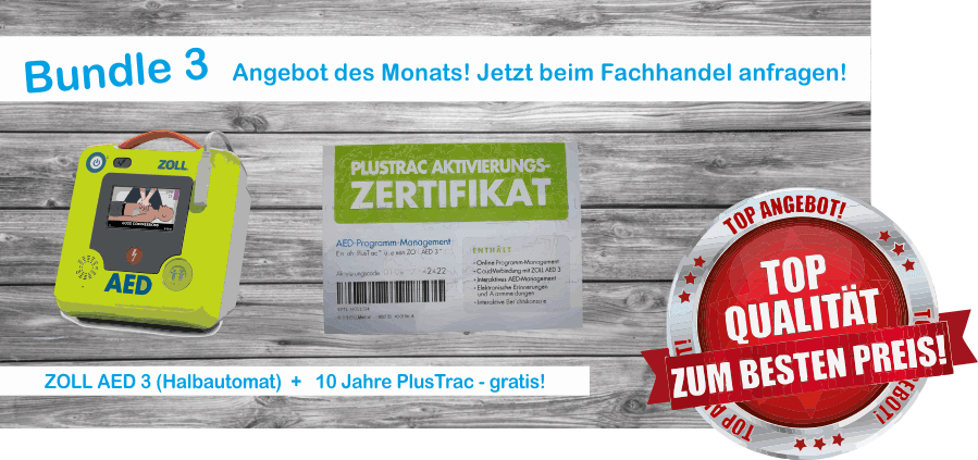 Zoll AED 3 + 10 Jahre PlusTrac