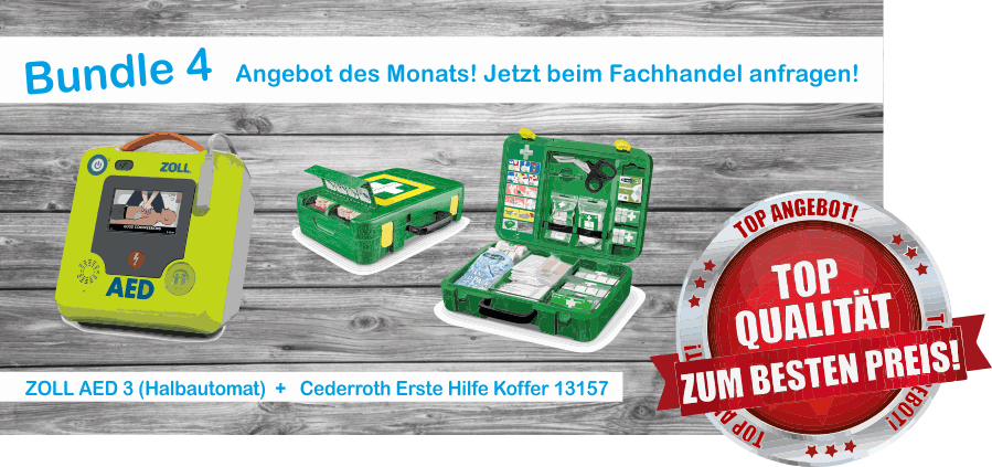 Zoll AED 3 Halbautomat + Erste Hilfe Koffer